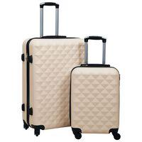 vidaXL Ensemble de valises rigides 2 pcs Doré ABS