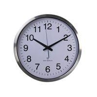 Perel Horloge murale 50 cm Blanc et argenté