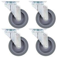 vidaXL 16 pcs Roulettes pivotantes 75 mm