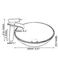 Nouveau robinet monocommande en verre + lavabo lavabo lavabo en verre