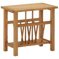 vidaXL Table à revues 45x27x42 cm Bois de chêne solide