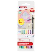 edding Feutres de coloriage fin classiques 6 pcs Multicolore 1200