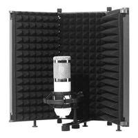 Bouclier d'isolation de microphone pliable avec support fileté