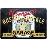 Plaque d'huile à moteur vintage en métal signes d'étain -