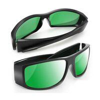2 pcs / lot LED élèvent des lunettes de lumière lunettes