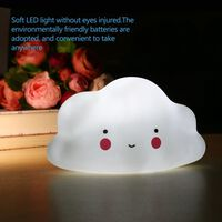 Veilleuse blanc nuage Mini lampe jouet dans la maison pour chambres d'