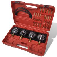 vidaXL Kit d'outils de jauges de synchroniseur de vide de carburateur