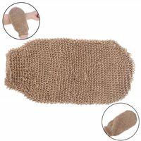 Gants de bain en fibre exfoliant lavage de la peau serviette en