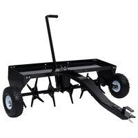 vidaXL Aérateur de pelouse pour tondeuse autoportée 102 cm