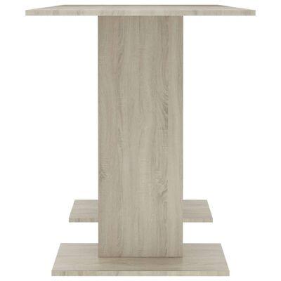 vidaXL Table à dîner Blanc et chêne sonoma 110 x 60 x 75 cm Aggloméré