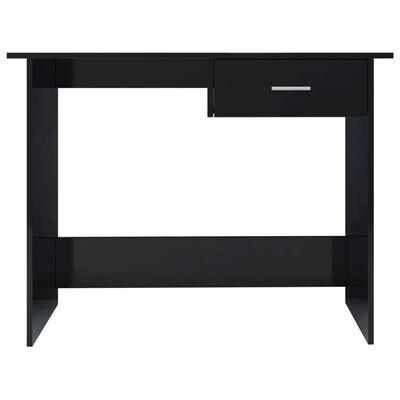 vidaXL Bureau Noir brillant 100 x 50 x 76 cm Aggloméré