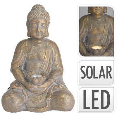 ProGarden Bouddha avec lampe solaire Doré MGO