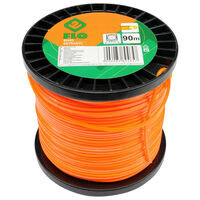 FLO Fil de coupe-herbe Extranyl 2,4 mm 90 m Orange