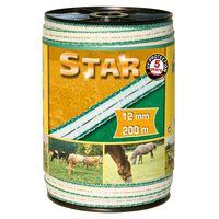 Kerbl Ruban de clôture électrique Star PE 200 m 12 mm