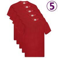 Fruit of the Loom T-shirts originaux 5 pcs Rouge XL Coton