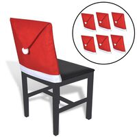 vidaXL Housses de dossier de chaise 6 pcs Bonnet de Père Noël