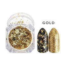Paillettes pour ongles poudre holographique - polissage miroir