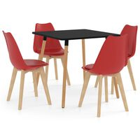vidaXL Ensemble de salle à manger 5 pcs Rouge