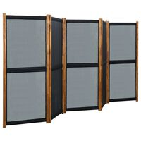 vidaXL Cloison de séparation 5 panneaux Noir 350x170 cm