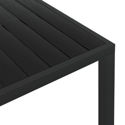vidaXL Table de jardin Noir 150 x 90 x 74 cm Aluminium et WPC