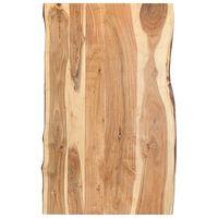 vidaXL Dessus de table Bois d'acacia massif 100x(50-60)x3,8 cm