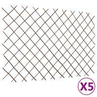 vidaXL Clôtures en treillis de saule 5 pcs 180x120 cm