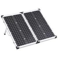 vidaXL Boîte de panneau solaire pliable 60 W 12 V