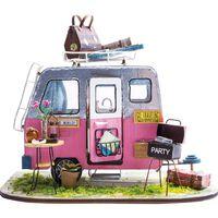 Robotime Kit de voiture miniature de bricolage Happy Camper