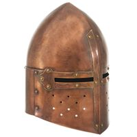 vidaXL Casque de chevalier médiéval antique pour GN Cuivre Acier