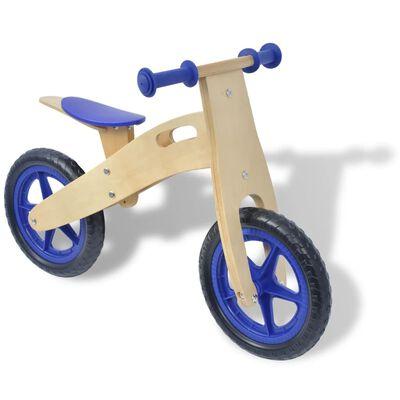 vidaXL Vélo d'équilibre en bois bleu