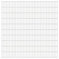 vidaXL Panneaux de clôture de jardin 2D 2,008x2,03 m 8 m total Argenté