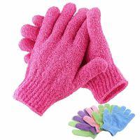 Gant de gant exfoliant pour la douche - mousse de spa hydratante pour