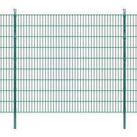 vidaXL Panneaux et poteaux de clôture 2D pour jardin 2008x1830 mm 50 m