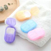 Feuilles de tranche de savon jetables et portables et papier moussant