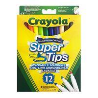 Crayola, 12x Feutres à Pointe - Super Tips