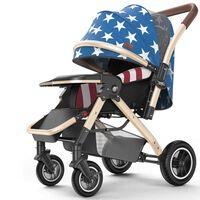 La poussette de bébé peut s'asseoir inclinable, pliante