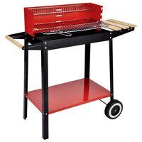 HI Gril barbecue au charbon 88x44x83 cm Rouge