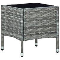 vidaXL Table de jardin Gris 40x40x45 cm Résine tressée