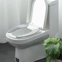 Couverture de siège de toilette universelle d'hiver chaud doux