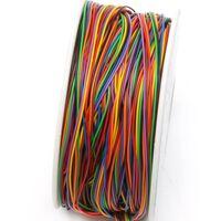 Un rouleau 8 couleurs 30awg fil d'emballage de fil, solide en