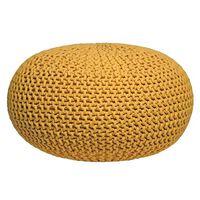LABEL51 Pouf tricoté Coton L Jaune
