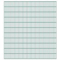 vidaXL Panneaux de clôture de jardin 2D 2,008x2,23 m 18 m total Vert