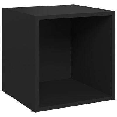 vidaXL Ensemble de meubles TV 8 pcs Noir Aggloméré
