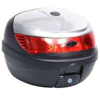 vidaXL Boîte de moto 35 L pour un seul casque