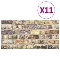 vidaXL Panneaux muraux 3D avec design de brique multicolore 11 pcs EPS