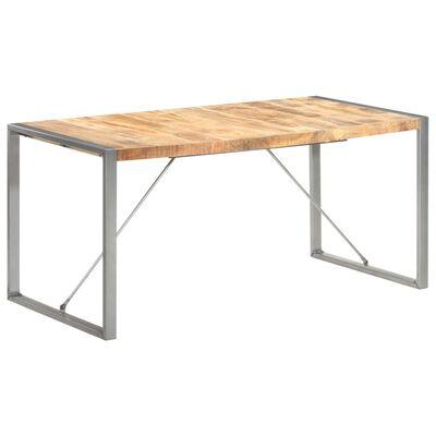 vidaXL Table à dîner 160x80x75 cm Bois de manguier massif brut