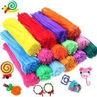Enfants créatif coloré bricolage en peluche chenille bâtons tige