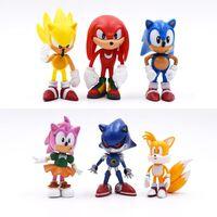 Sonic figures toy pvc shadow tails personnages figure pour enfants