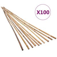vidaXL Piquets de jardin Bambou 100 pcs 150 cm