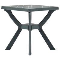 vidaXL Table de bistro Vert 70x70x72 cm Plastique